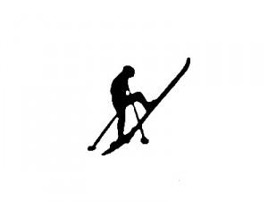 spitzkehre mit ski